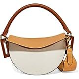 Yuzefi Dip Color-Block Textured-Leather Shoulder Bag