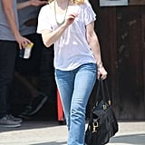 Rachel McAdams stepped out in LA after having her hair done at a salon.