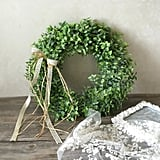 Artificial Green Leaf Wreath ($27)