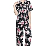 SunRise Women's Short Sleeve Classtic Satin Pajama Set