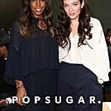 Kelly Rowland and Lorde looked fresh-faced at the Chloé show during Paris Fashion Week on Sunday.