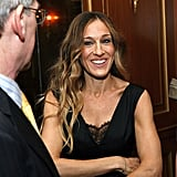 Sarah Jessica Parker chatted with friends at the Pierre Hotel.