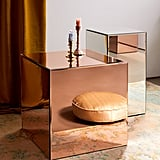 Mirrored Cube Side Table