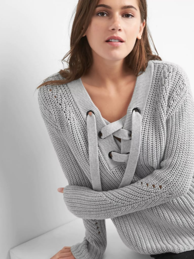 Gap Lace,Up Pullover Sweater