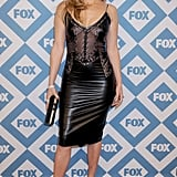 Jennifer Lopez showed skin at Fox's Winter TCA party on Monday in LA.