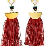 Lizzie Fortunato Mount Sage Tassel Earrings, Dark Orange ($185)