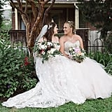 Kaila and Brittany stunned at their outdoor garden wedding in Columbus, OH.