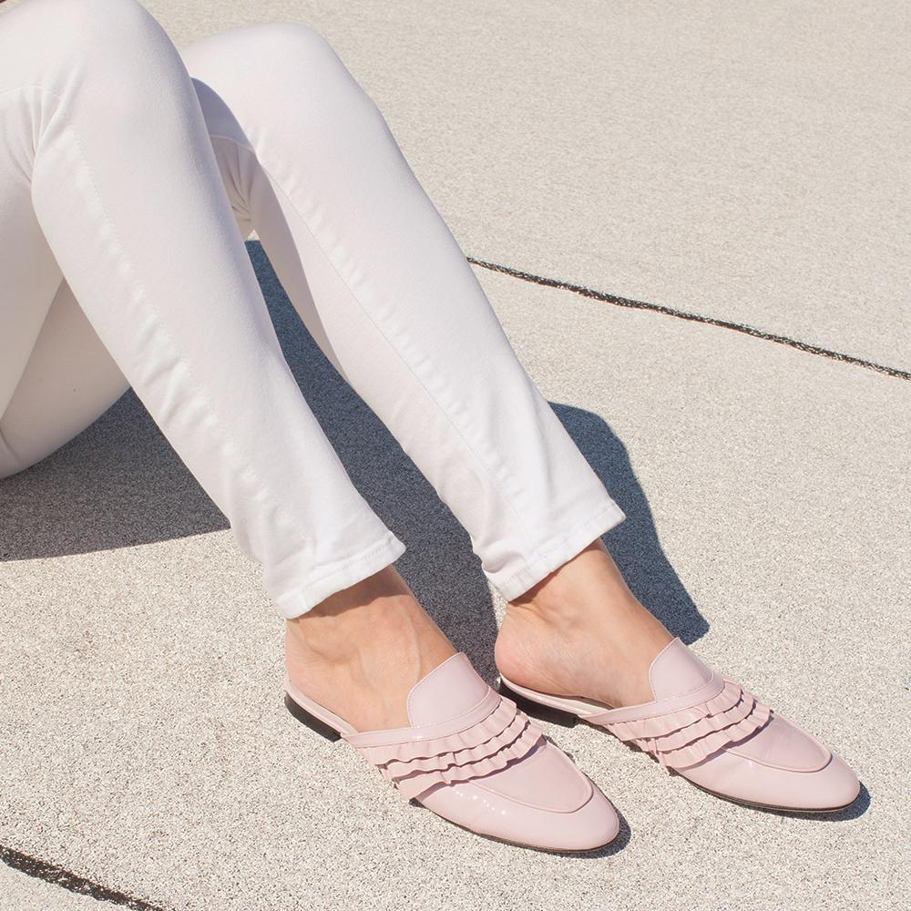 Madame Ruffle in Blush Pink