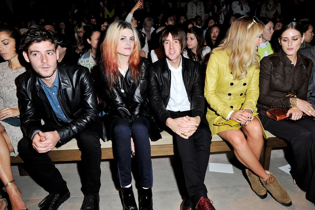 Roo Panes, Alison Mosshart, Miles Kane, Suki Waterhouse, and Olivia Palermo attended the Burberry Spring Summer 2013 Womenswear Show.