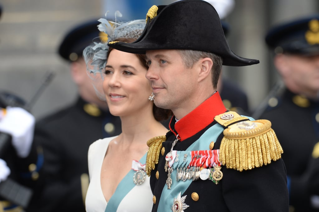 Crown Princess Mary and Crown Prince Frederik of Denmark left the Dutch inauguration ceremony.