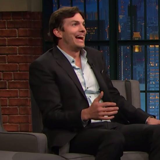 Ashton Kutcher on Late Night With Seth Meyers October 2016