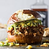 Slow-Cooker Bourbon Chicken Sandwiches With Corn Slaw