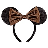 Belle Bronze Minnie Mouse Sequined Ear Headband