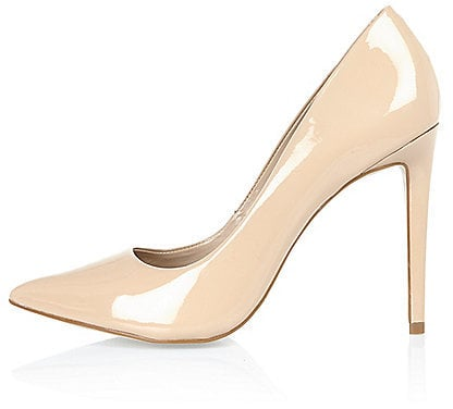 River Island Womens Nude pink patent pumps