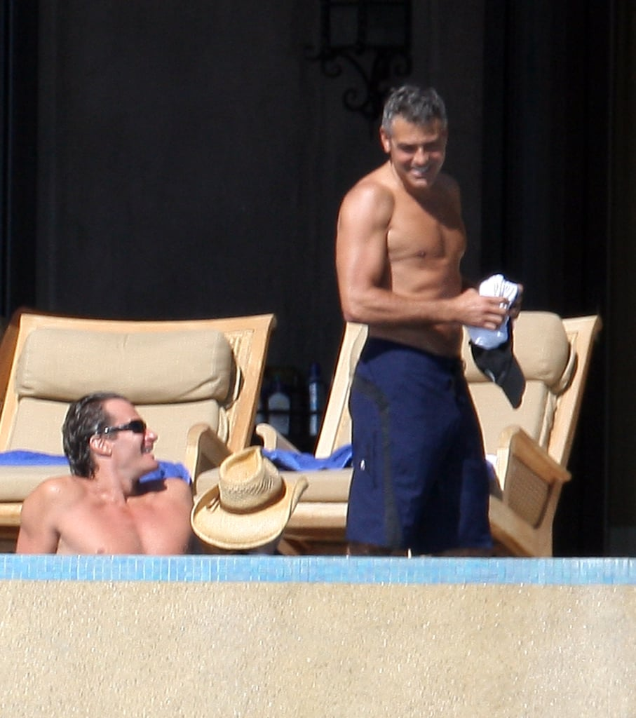 In December 2008, George Clooney and Rande Gerber went shirtless.