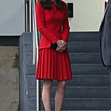 Kate Wearing the Red Dress in 2015