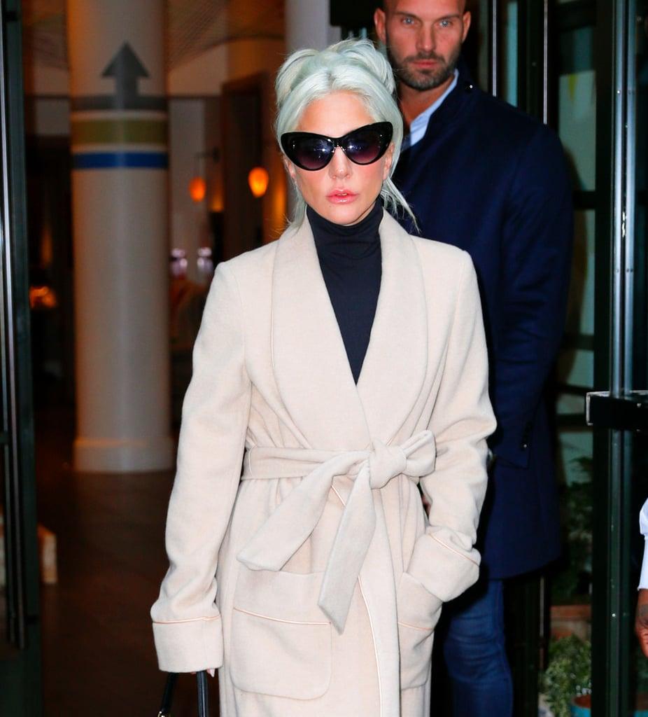 Lady Gaga Camel Coat by Gabriela Hearst January 2019