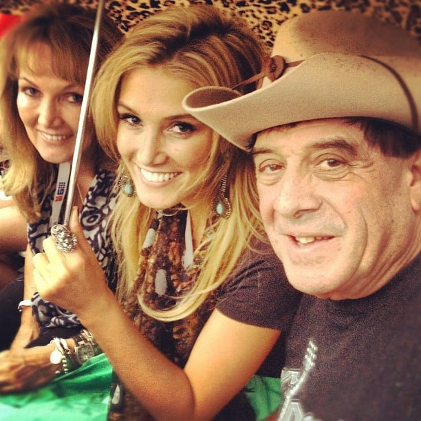 Charlotte Dawson found Delta Goodrem, her mum Lea, and Molly Meldrum at the opening ceremony. Source: Instagram user mscharlotted
