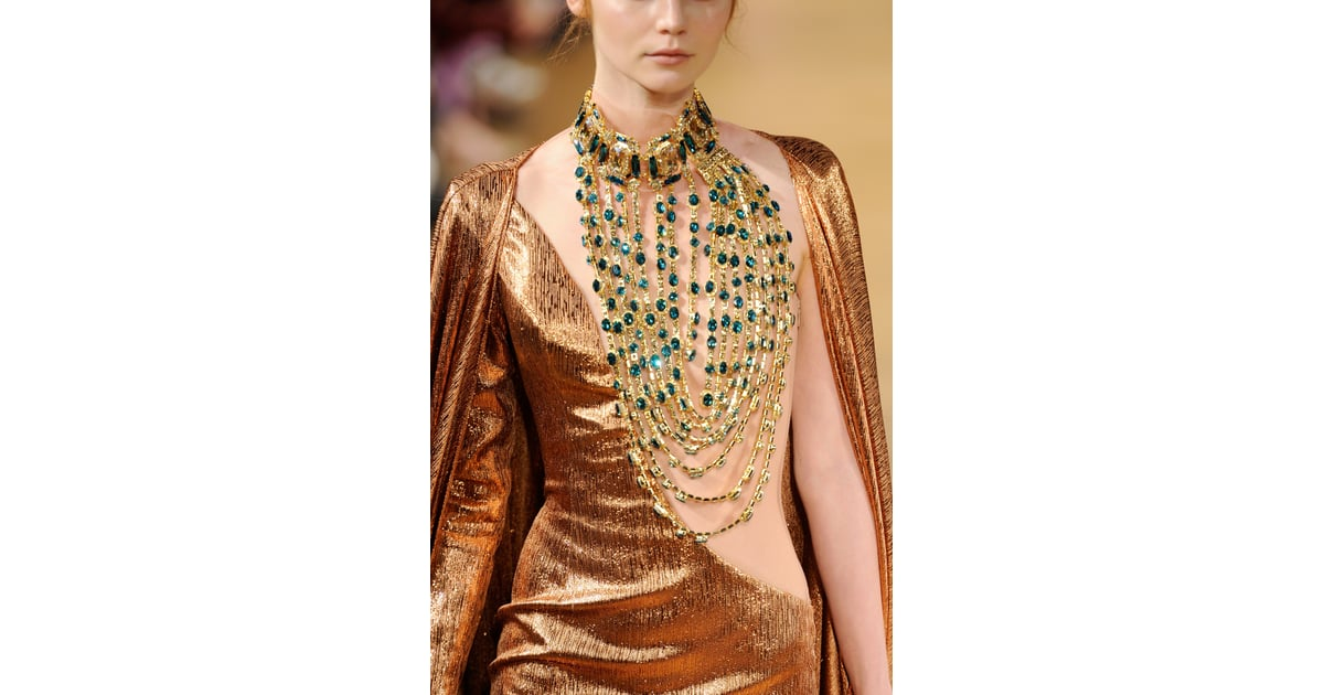 The necklace as ornamentation at the tony yaacoub haute for O couture fashion