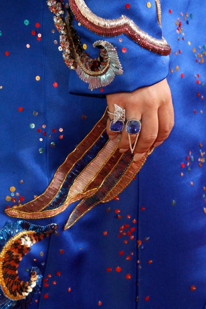 Wearing Lorraine Schwartz rings.