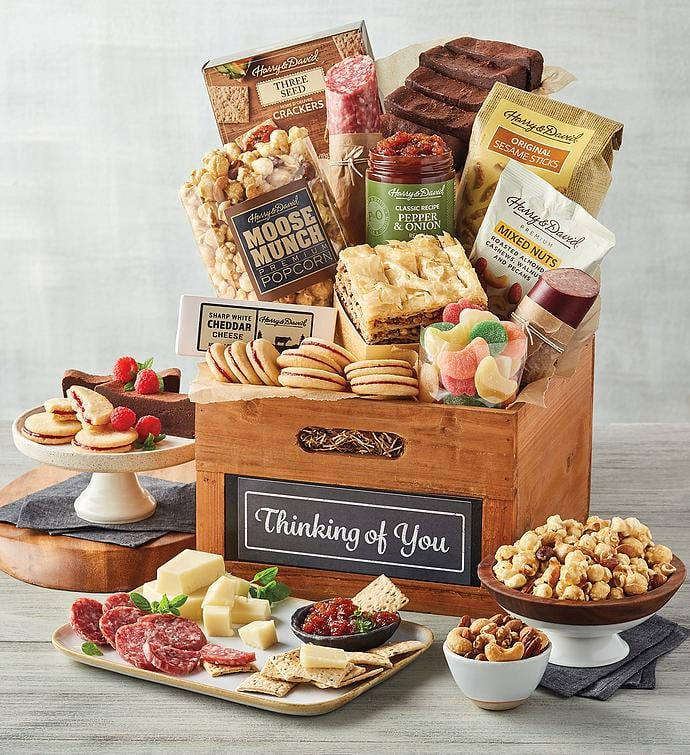 """Harry & David Deluxe """"Thinking of You"""" Gift Basket"""