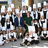 In September 2016, Will and Kate posed with a group of student chefs at the Mission Hill Winery in Kelowna, Canada.
