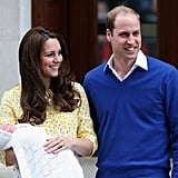 William had a permanent smile on his face after the birth of Charlotte.