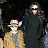David and Victoria Beckham Travel With Family to London