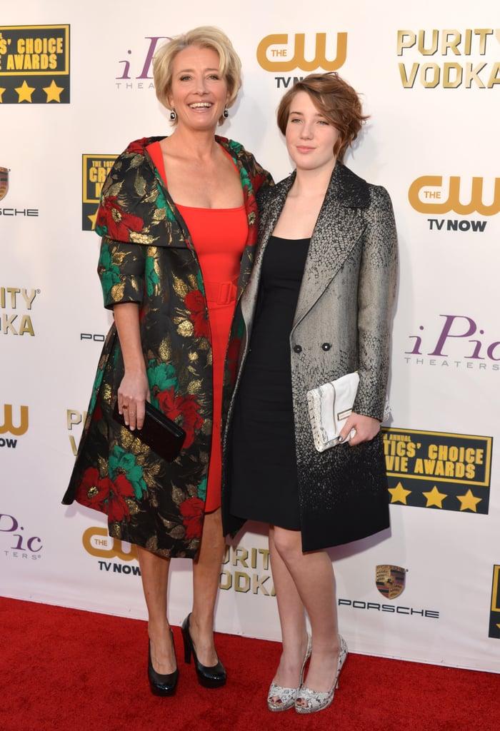 Emma Thompson's daughter, Gaia, accompanied her again to the Critics' Choice Awards.