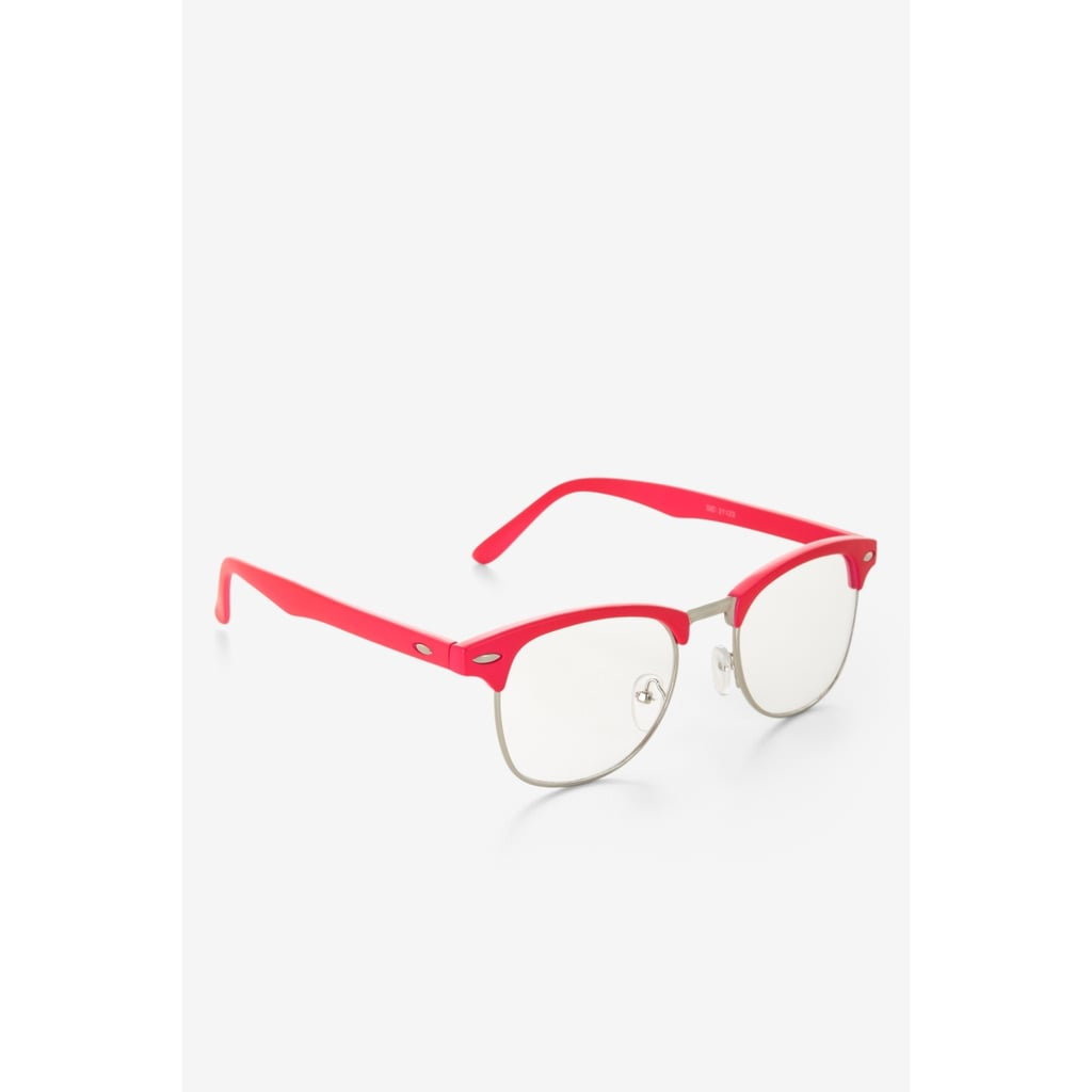 For a pop of color, we suggest these pretty pink frames. The retro-inspired feel is decidedly '60s chic.