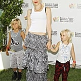 In 2012, Gwen was accompanied by Kingston and Zuma to a charity event in LA.