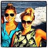 Jessica Hart spent time at sea with her sister, Ashley. Source: Instagram user 1jessicahart