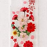 Recover Red Pressed Flowers iPhone Case