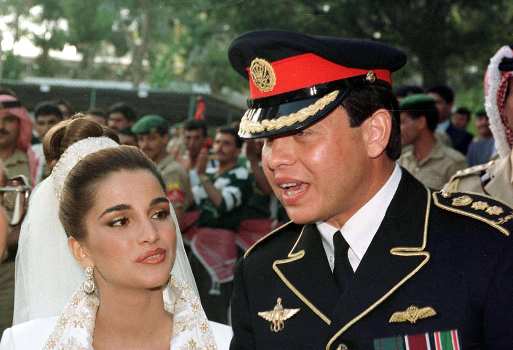 King Abdullah and Rania al Yassin The Bride: Rania al Yassin, who was born in Kuwait to Palestinian parents. She worked for Citibank and Apple Inc. The Groom: King Abdullah II, then a prince. When: June 10, 1993, they had met at a dinner party in January of that year. Where: Amman, Jordan.