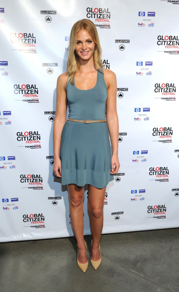 Erin Heatherton looked great for a good cause at the Global Citizen Festival press conference.