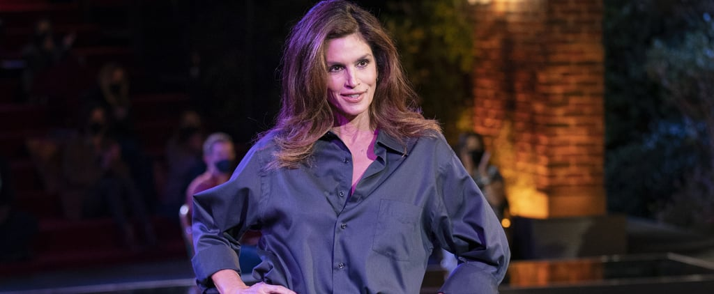 Cindy Crawford Wears Ross's Leather Pants at Friends Reunion