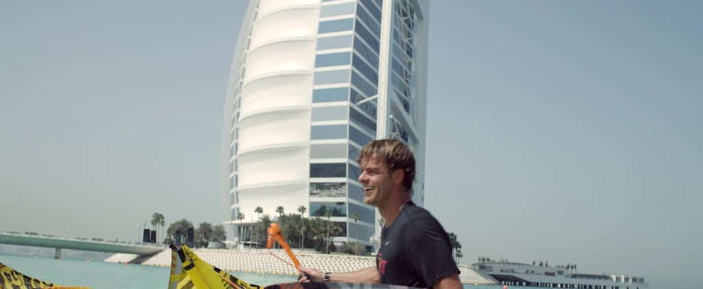 Watch The Terrifying Moment a Kiteboarder Jumped Off The Burj Al Arab
