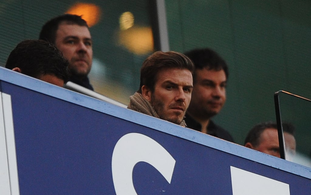 David Beckham dressed up to take in a football match between Chelsea and Liverpool in London this weekend. He showed off his new shorter haircut at the game after months of letting his locks grow into a longer, parted style. We prefer David now that he has a trim, but he still makes our list of hot athletes either way. David and his wife Victoria have been keeping busy with couple's date nights and family time during their stay in England, though they'll soon return home to LA to wait for the arrival of their fourth child. Victoria and David shared their excitement about the pregnancy, and they might have even more to celebrate if rumours that the baby is a girl prove to be true.