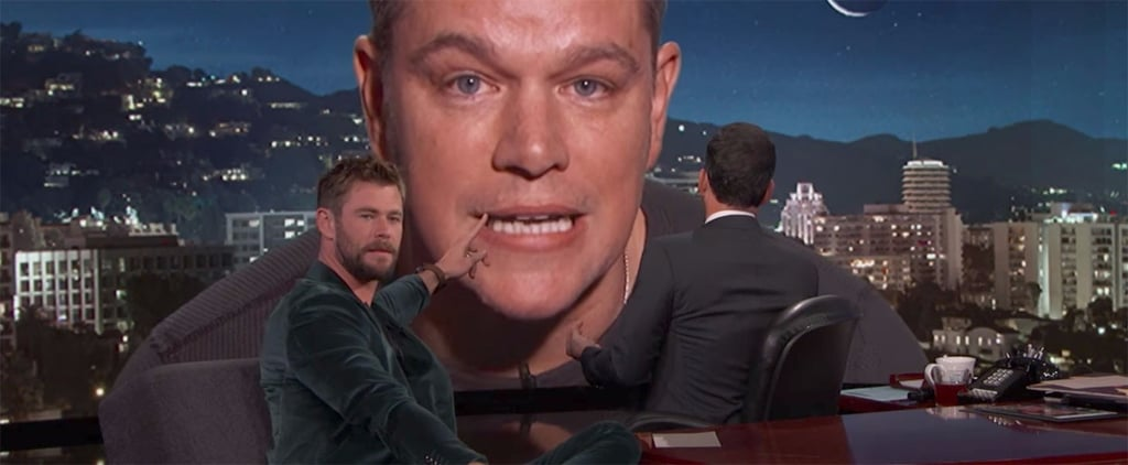 Matt Damon Crashes Chris Hemsworth's Interview to Piss Off Jimmy Kimmel
