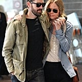 Kate Bosworth and Michael Polish kept close in the airport.