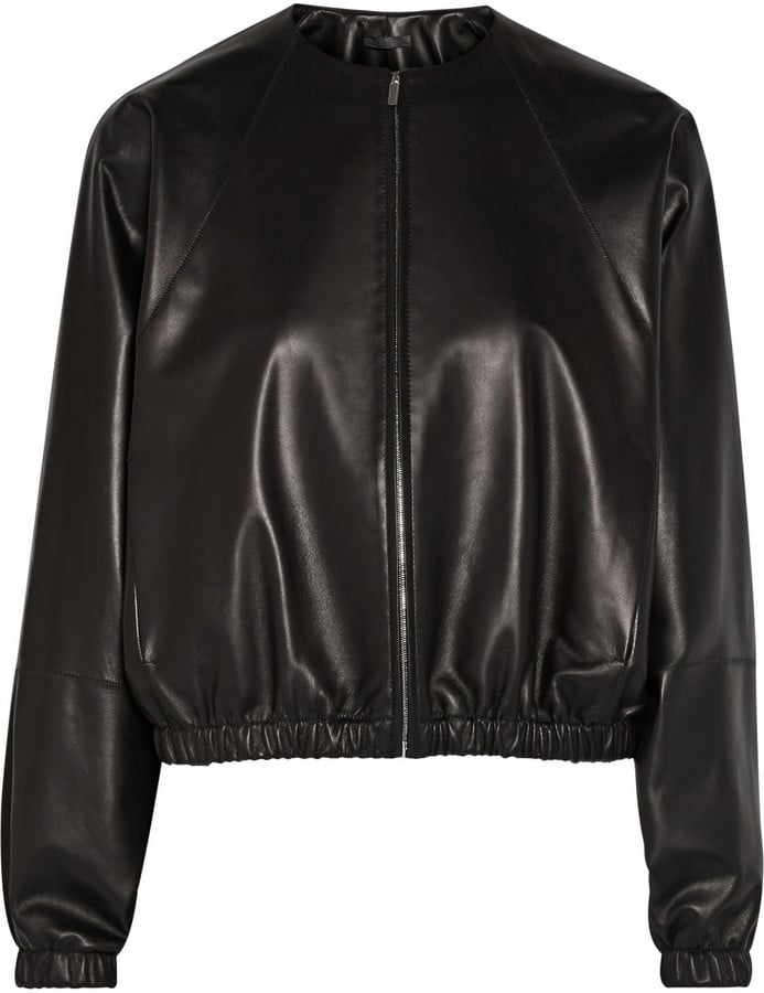 The Row Leather Bomber Jacket ($3,650)