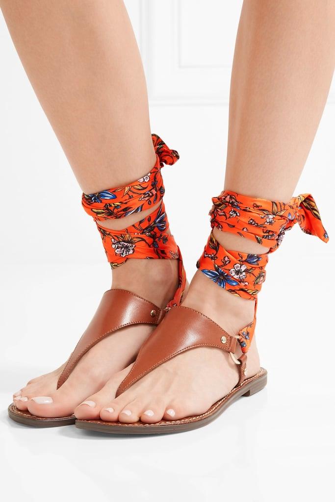 Amazing ankle wrap flat sandals like Sam Edelman's Giliana