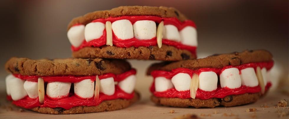 Sink Your Teeth Into Vampire Fang Cookies