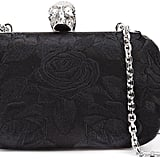 Alexander McQueen Rose Embroidered Box Clutch