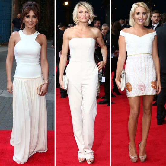 Cheryl Cole, Cameron Diaz in White at What to Expect Premiere