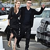 Angelina Jolie's Sleek Wrap Dress