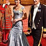 Kate Middleton Alexander McQueen Dress State Banquet 2018