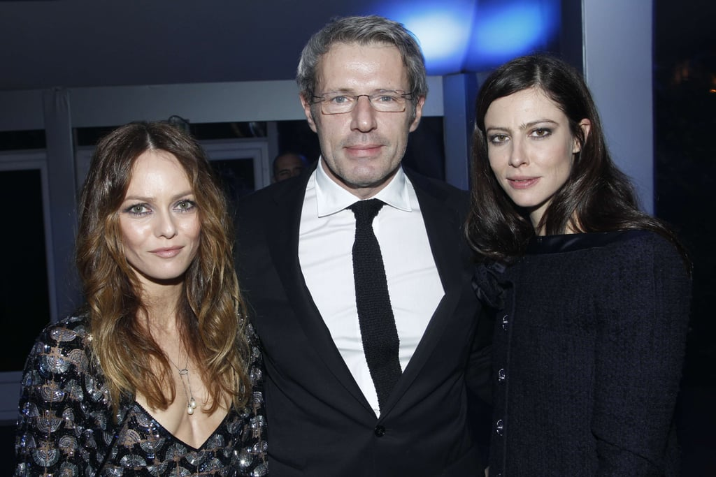 Vanessa Paradis and Anna Mouglalis joined a friend at the Sidaction event.