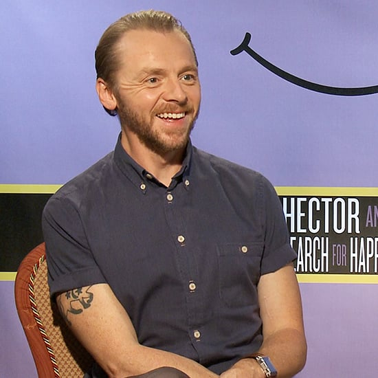 Simon Pegg and Rosamund Pike Wisely Find Happiness in . . . Pizza