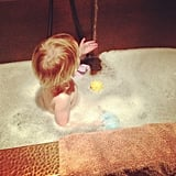 Pink envied her daughter Willow's bubbly bath. Source: Instagram user pink